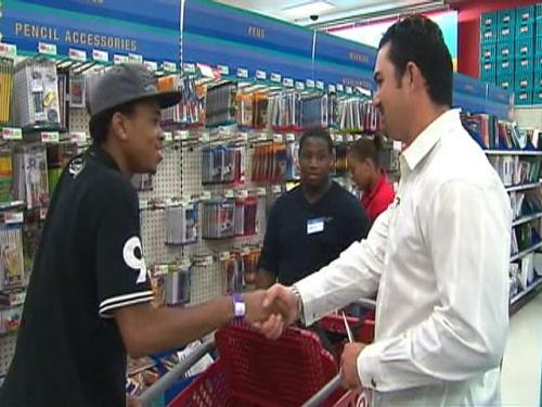 Adrian Gonzalez Takes Red Sox Scholars Back-To-School Shopping