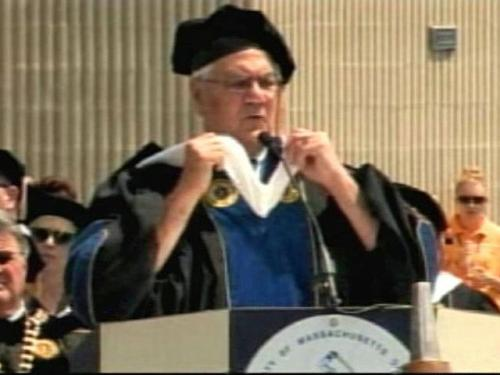 Barney Frank Jokes About Trayvon Martin Shooting At UMass Dartmouth Graduation