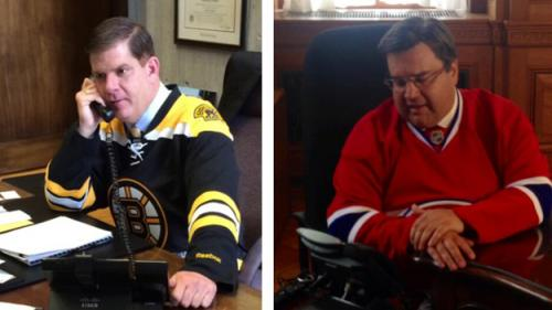 Boston, Montreal Mayors Wager Over NHL Series