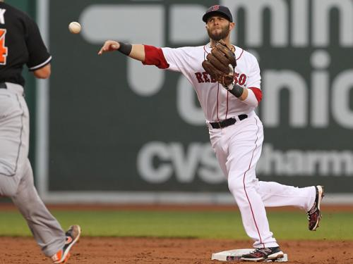 Dustin Pedroia Not In Red Sox' Lineup Wednesday Against Marlins