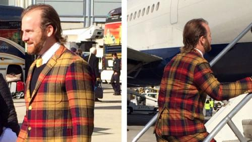 Home Run Or Error? Red Sox Pitcher Dempster Shows Up In Plaid Suit
