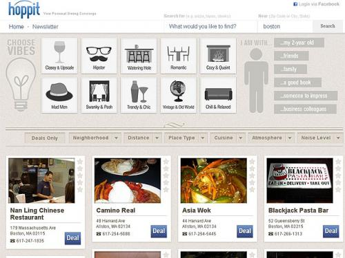 Hoppit – The Search Engine For Restaurant Ambiance
