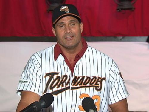 Jose Canseco Introduced By Worcester Tornadoes