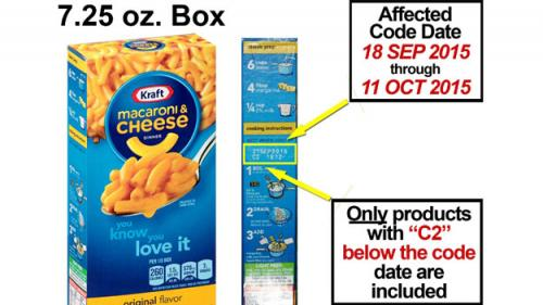 Kraft Recalls Mac & Cheese Due To Possible Metal Pieces