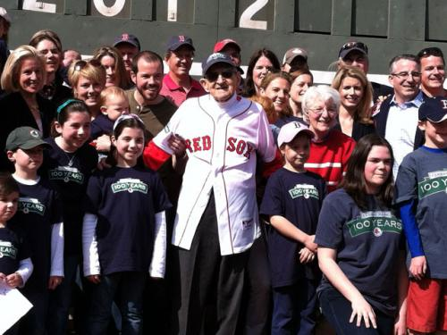 Man Celebrates 100th Birthday By Throwing Out 1st Pitch At Fenway Park