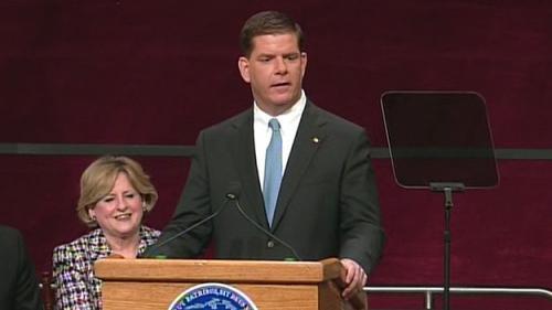 Marty Walsh Sworn In As Boston's New Mayor