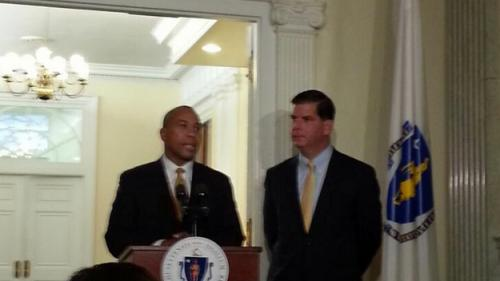 Mass. Gov. Meets With Boston Mayor Elect