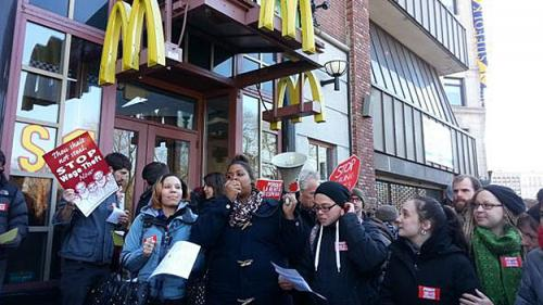 McDonald's Protests Spotlight Alleged 'Wage Theft'