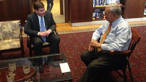 Menino Surprised By Voter Turnout, Will Support Walsh