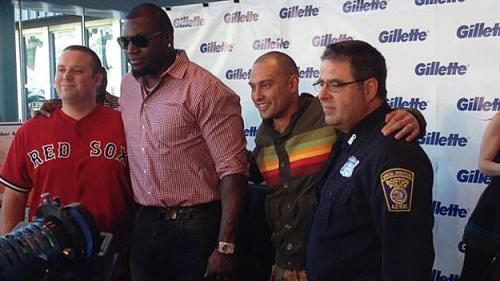 Ortiz, Victorino, Officer Horgan Shave Beards For Charity