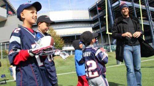 Patriots Fulfill Children's Wishes At Gillette Stadium