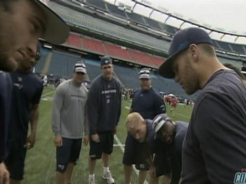 Patriots Have Fun Leading Way At 'Executive Combine'