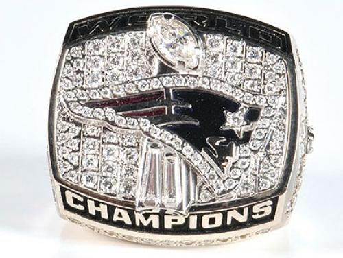 Patriots 2001 Super Bowl Ring Up For Auction