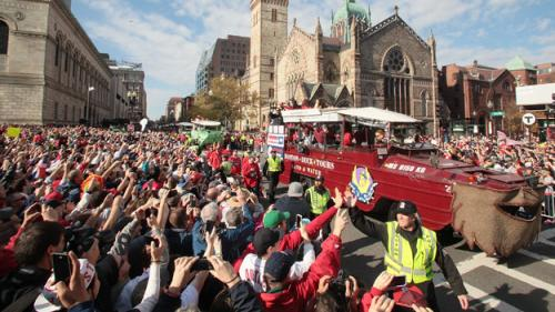 Red Sox Celebrate World Series Win With Parade Through Boston