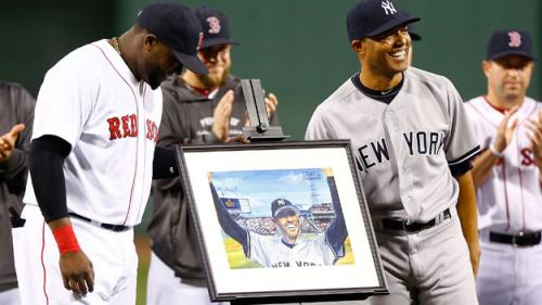 Red Sox Honor Mariano Rivera Before Game At Fenway Park