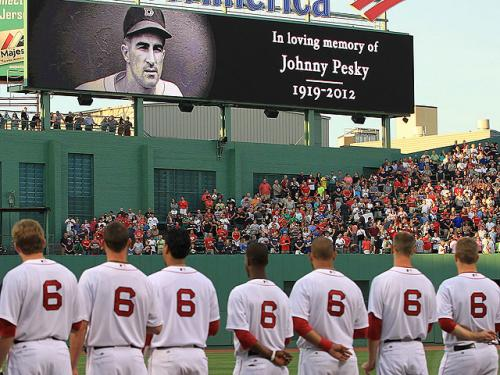 Red Sox Honor Pesky Prior To Loss Against Angels