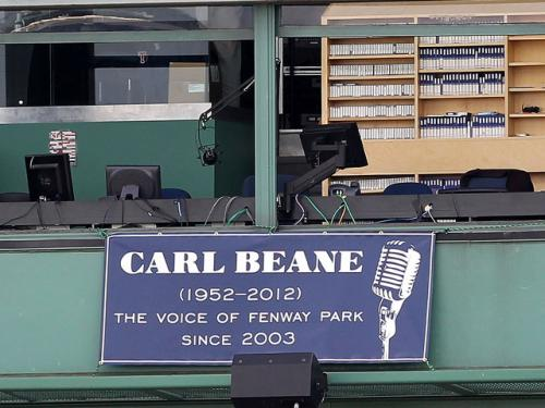 Red Sox Pay Tribute To Carl Beane