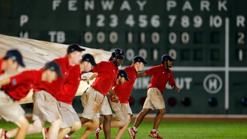 Red Sox-Rays Game Postponed Due To Rain; Rescheduled For Doubleheader On Thursday
