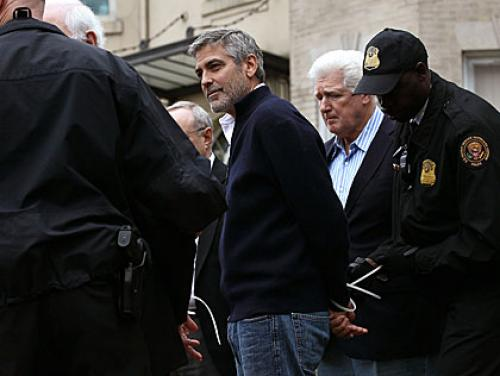 Reps. McGovern & Olver, George Clooney Arrested In Washington Protest