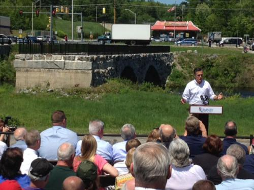 Romney Points To Restored Bridge As Obama Failure