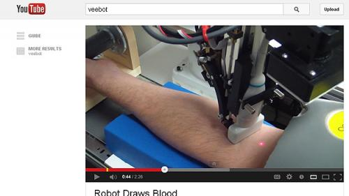 Start-Up Company Creates Robot To Draw Blood
