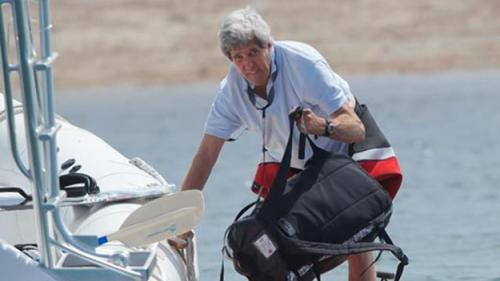 State Dept. Does About-Face, Admits Kerry Was 'Briefly' On Yacht In Nantucket