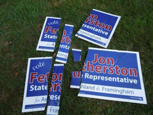 State Rep. Candidate Says Nearly 40 Campaign Signs Were Stolen Or Destroyed
