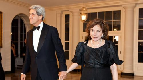 Tearful John Kerry Says Wife's Condition Improving