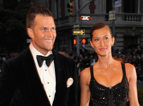 Tom Brady Debuts New 'Fauxhawk' Hairstyle With Gisele Bundchen At Art Event
