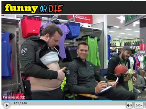 Tom Brady Featured In 'Behind The Scenes' Footage From Funny Or Die Video