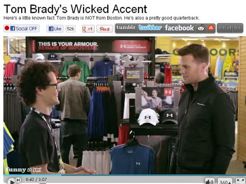 Tom Brady's 'Boston Accent' Under Fire In Funny Or Die Video