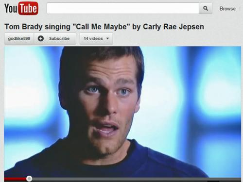 Tom Brady 'Sings' Carly Rae Jepsen's 'Call Me Maybe' In YouTube Mashup