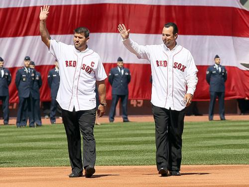 Wakefield, Varitek Return To Throw Out First Pitch