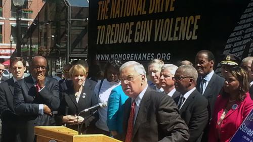 Warren, Markey, Menino Rally To Urge Tougher Gun Laws