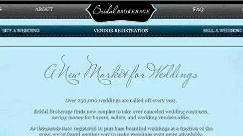 Website Buys & Sells Cancelled Weddings