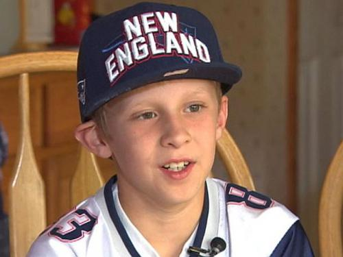 Young Patriots Fan Booed At NFL Draft